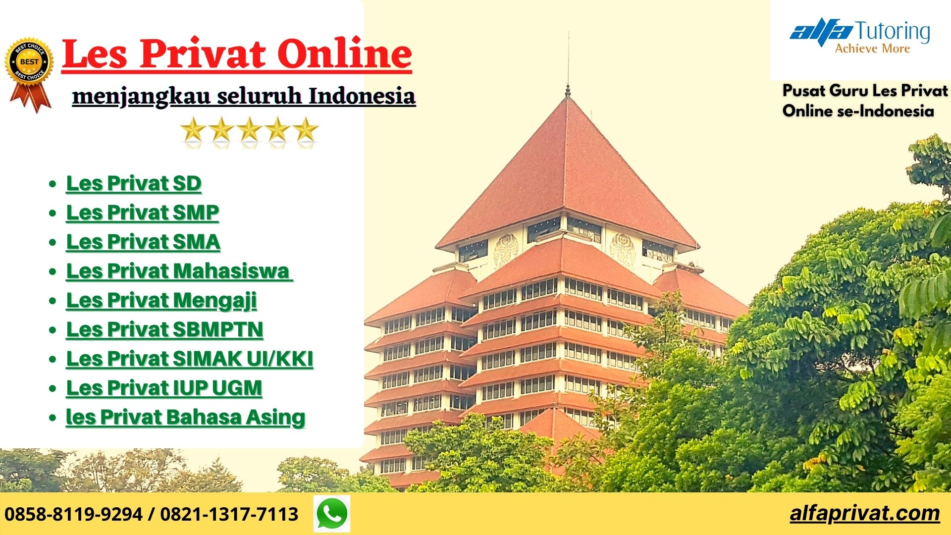 les privat online, bimbel online terbaik, guru les privat online, bimbel online murah